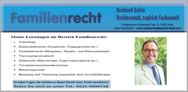 Rechtsanwalt, zugleich Fachanwalt für Familienrecht, Rechtsanwalt Familienrecht Köln, Fachanwalt Familienrecht Köln, Rechtsanwalt Familienrecht Köln